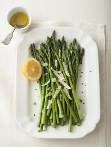 asparagus with lemon ginger vinaigrette